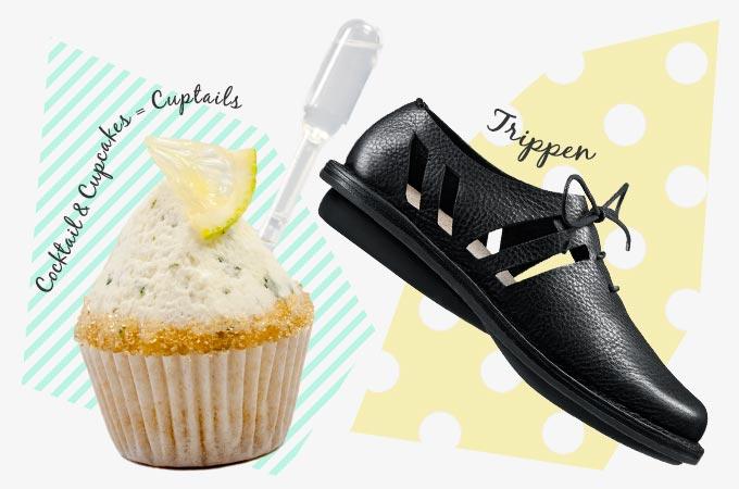 甘いヨーロッパを歩く~ベルリンのカクテル味カップケーキ x トリッペンの穴開きデザインスニーカー