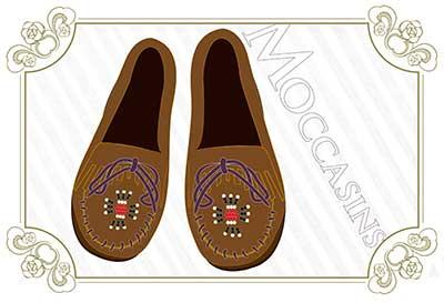モカシンは「靴」の原型!?