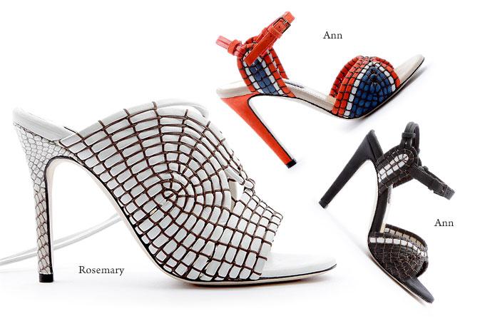 クリッシー モリス2015SSは線と面が織りなすテクニカルな靴