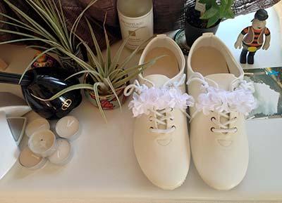糸も接着剤も不要でモード&スイート靴の作り方