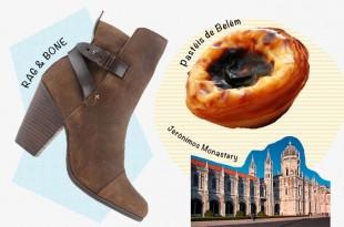 甘いヨーロッパを歩く~リスボンのパステル・デ・ベレン x ラグ & ボーンのショートブーツ