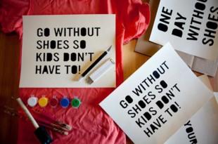 4月10日トムスOne Day Without Shoesキャンペーンで世界が裸足に