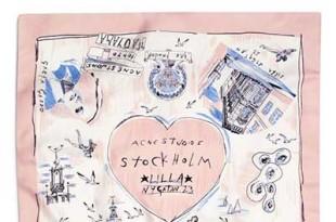 Acne×ベンジャミン・サイドラー、スペシャルなコラボレーションスカーフを限定発売