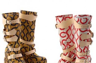 Vivienne Westwood心斎橋店リニューアルオープンを記念したエクスクルーシブなスクイグルブーツ